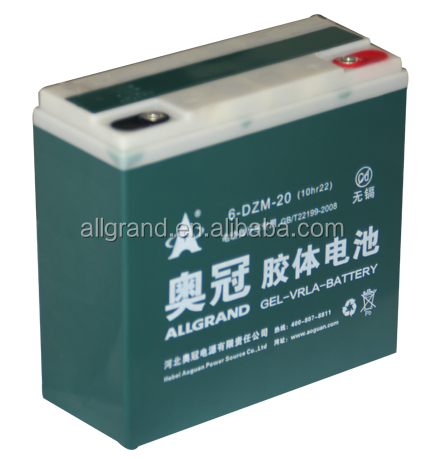 electric bicycle 12v20ah Sealed Lead Acid battery rechargeable gel/agm battery batteries