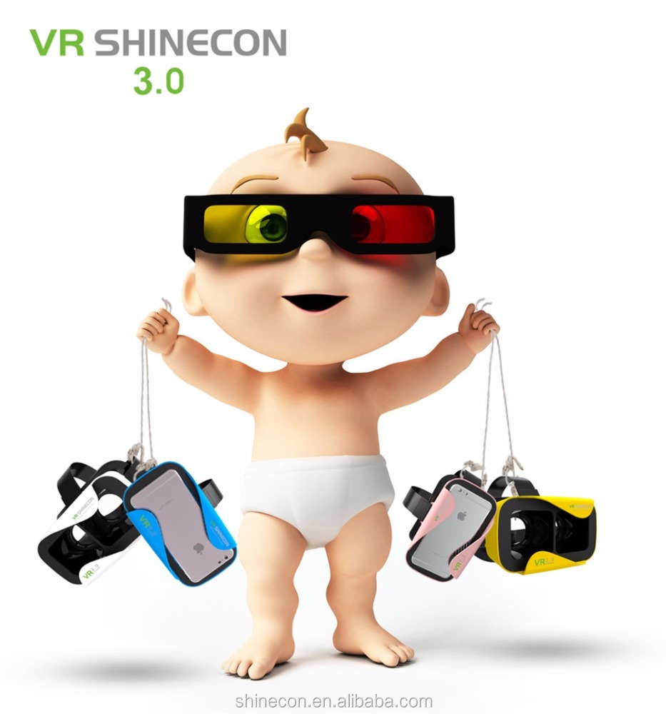 New Vr Sshinecon 3.0 3 D Glasses Mobile Phone Virtual Reality Fit 4.7 To 6.0 Inch Mobile Phone 3 D Glasses Print Logo Vr Headset
