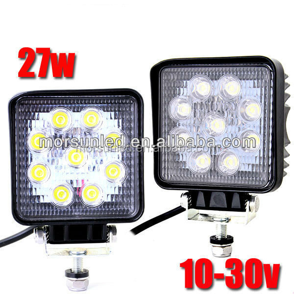 wholesale 4.3'' 27w square led worklight! guangzhou factory 27w 12v 24v DC led working lights for atv,utv,suv