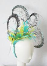 Amazing Derby Races Royal Ascot fascinator hat wholesale,feather fascinator on headband