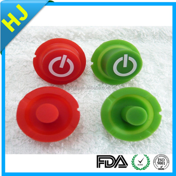 Cheap Wholesale custom Rubber power button made in China