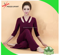 custom made 100% cotton yoga pants wholesale price