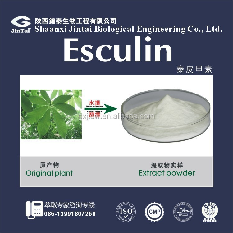 100% natural CAS NO.531-75-9 Esculin powder for Analgesia