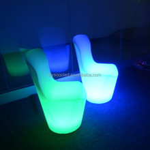 LED Lounge event furniture sofa sets, restaurant dining chair bar furniture ,beauty salon glowing sofa sets for sale