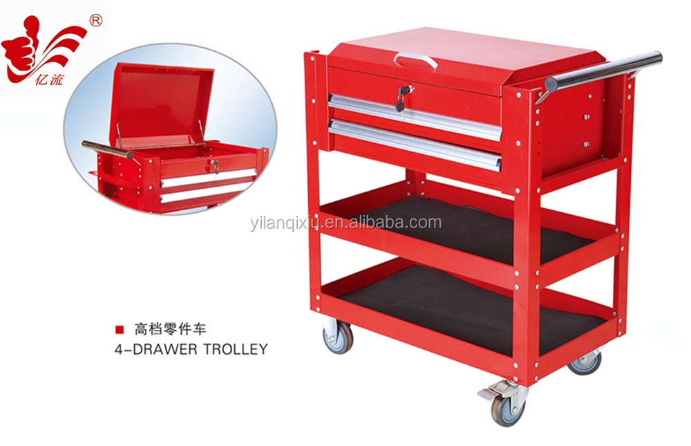 WHOLESALE ALIBABA HIGH QUALITY TOOL CART 3-DRAWER TOOL TROLLEY