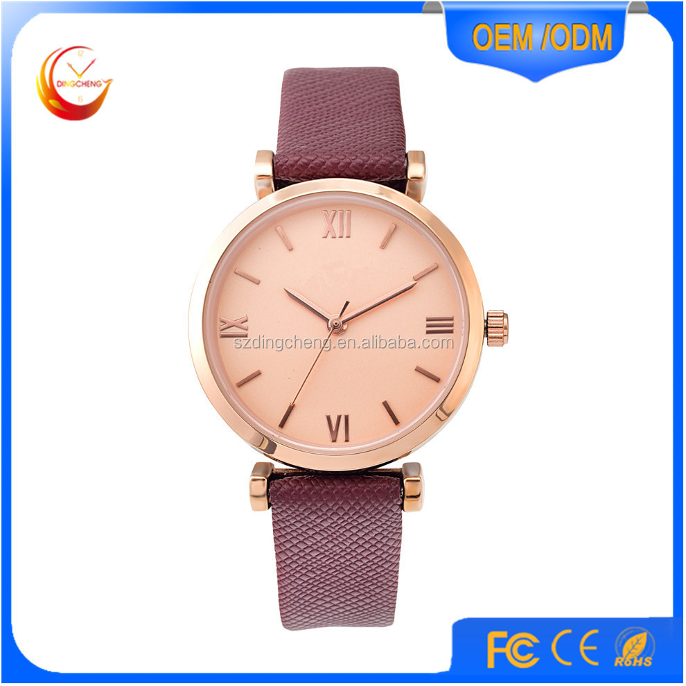 Thin Alloy Case Watches For Lady,Gold Mix Silver Color Band Watch