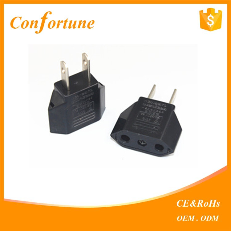 US To EU Travel AC Power Socket Plug Adapter Adaptor Converter 2 Pin European EU to US USA American Plug
