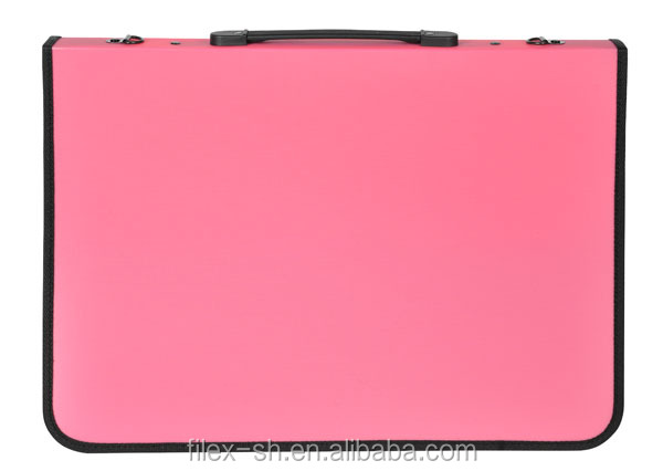 Women a3 size portfolio bag with plastic sleeves
