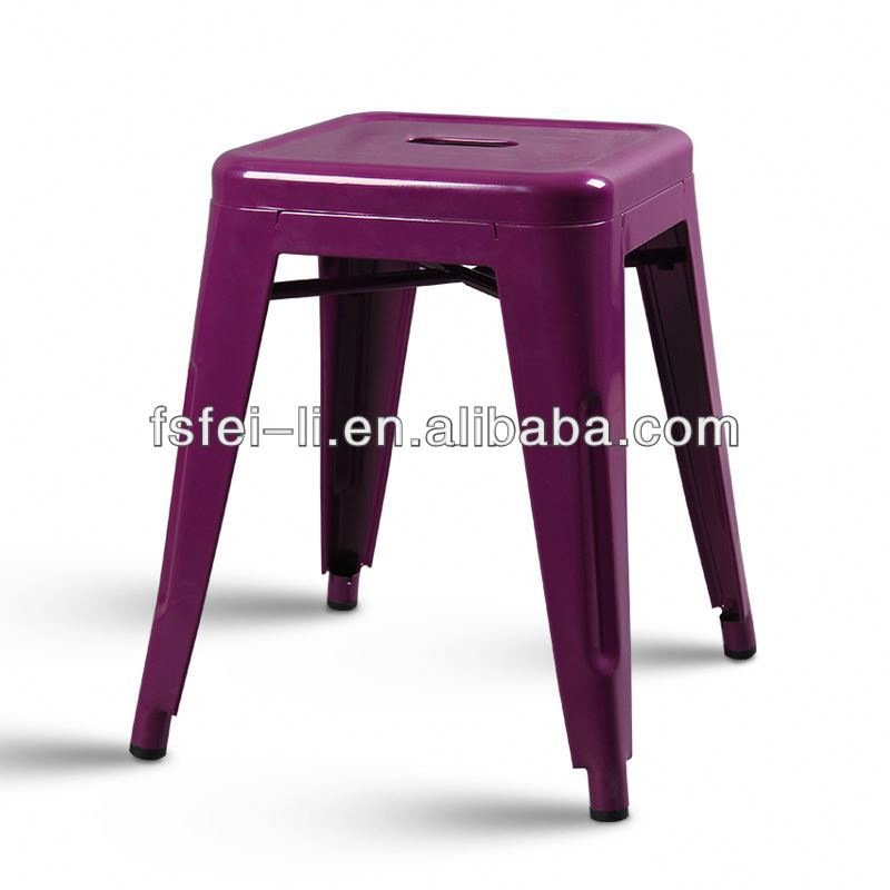 Modern leather tripod stool for living room