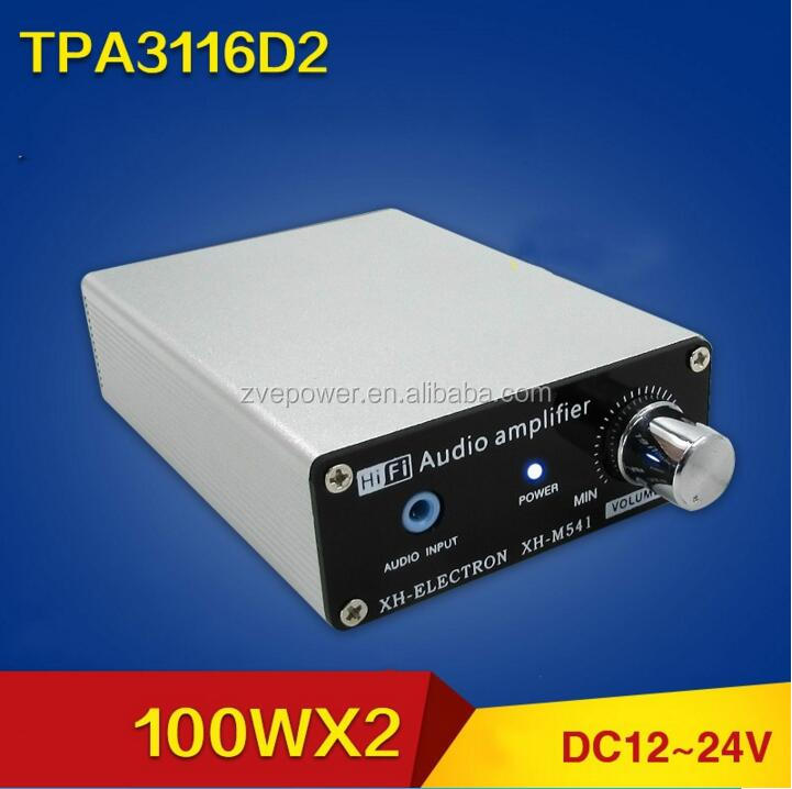 TOP QUALITY TPA3116 D2 100W * 2 High Power Digital Audio Power Amplifier with Dual Channel Stereo for Home Theater Amplifier