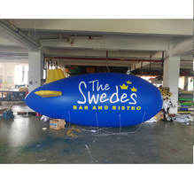Outdoor advertising rc blimp, inflatable airship , zepplin helium blimp for sale