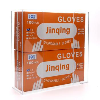 Transparent Clear Acrylic Glove Dispenser 2 Boxes
