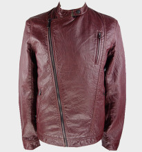 Outdoor casual leisure men leather motorcycle custom autumn jacket