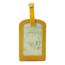 Wholesale leather Cheap Tag Custom Name Tag Luggage tag
