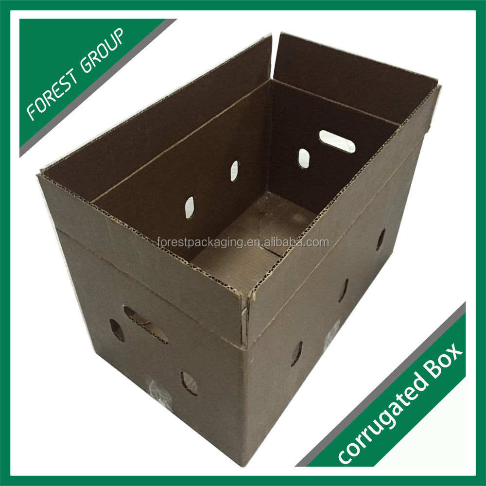 WAX DIPPING RIGID 3 PLY CORRUGATED WAX COATED SEAFOOD BOXES
