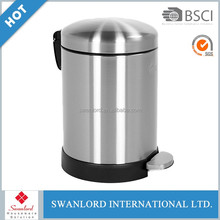 5L Cheap price eco-friendly indoor stainless steel dustbin / garbage / waste bin