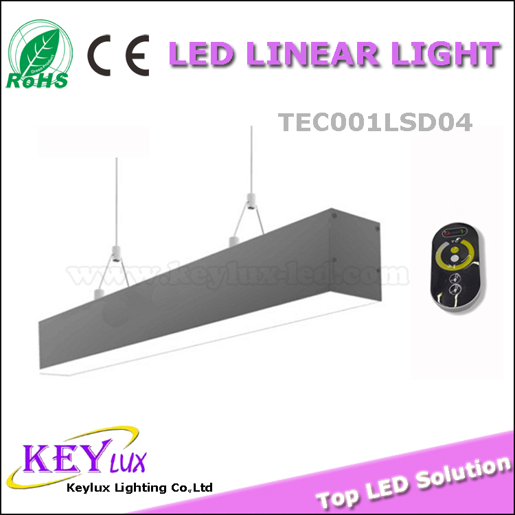 60w color change from 2500k-6500k led linear hanging ceiling lights color change from 2500k-6500k