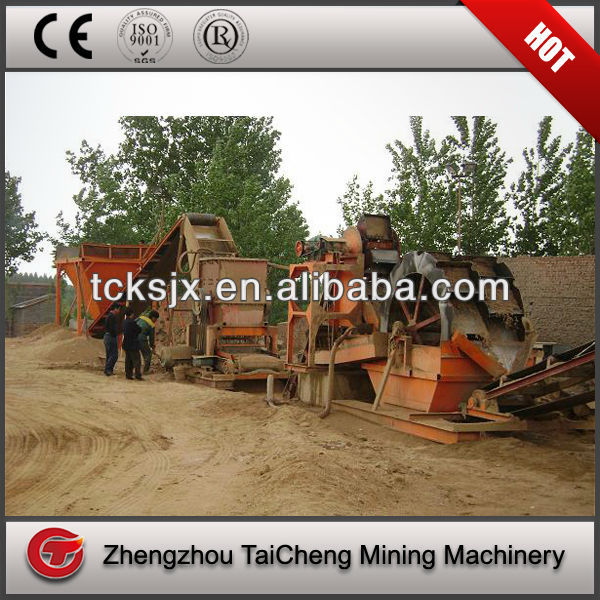 Gold Ore Crushing and Washing Plant 300TpH Sand Production Line