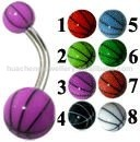 body piercing jewelry acrylic basketball navel belly ring