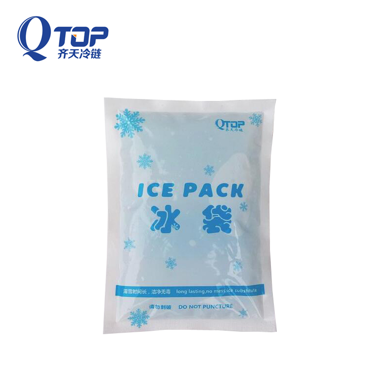 Food grade PE material eco-friendly nontoxic 400g gel ice packs for fresh food