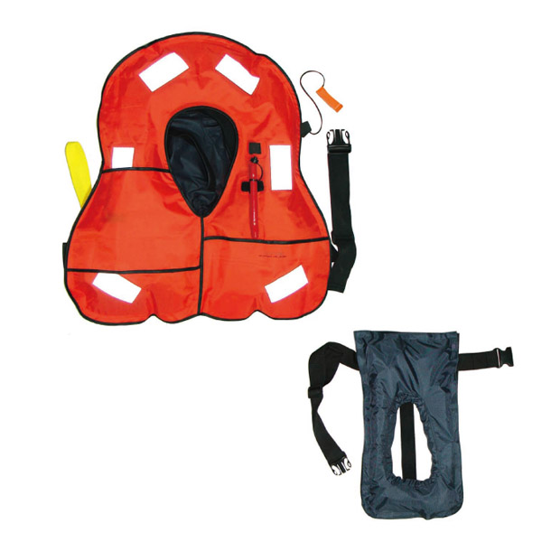 automatic inflatable yellow life vest for sale
