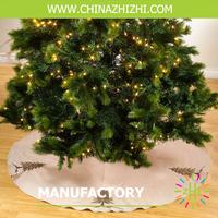 christmas tree cotton printed fabric skrits 100% cotton fabric cotton yarn