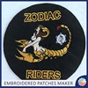 Custom ZODIAC Motorcycle Patches Sew on For Jackets