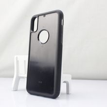 Wholesale groove TPU PC blank cell phone case for iPhone 8