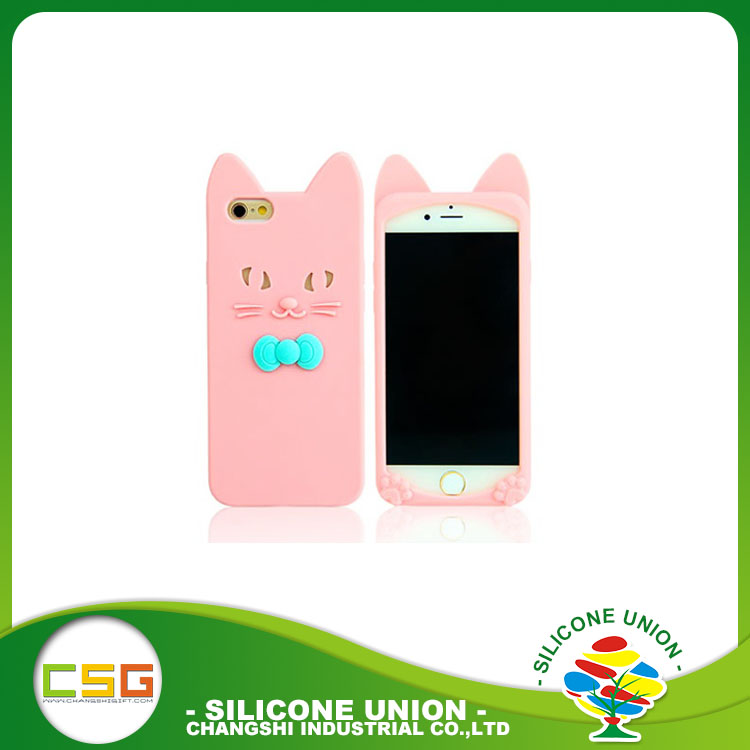 Eco-friendly cute cartoon silicone phone case
