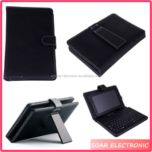 [Soar]7 Inch Tablet Leather Case With Keyboard For All Android Models, Universal Kickstand Tablet Micro USB 2.0 Wired Keyboard