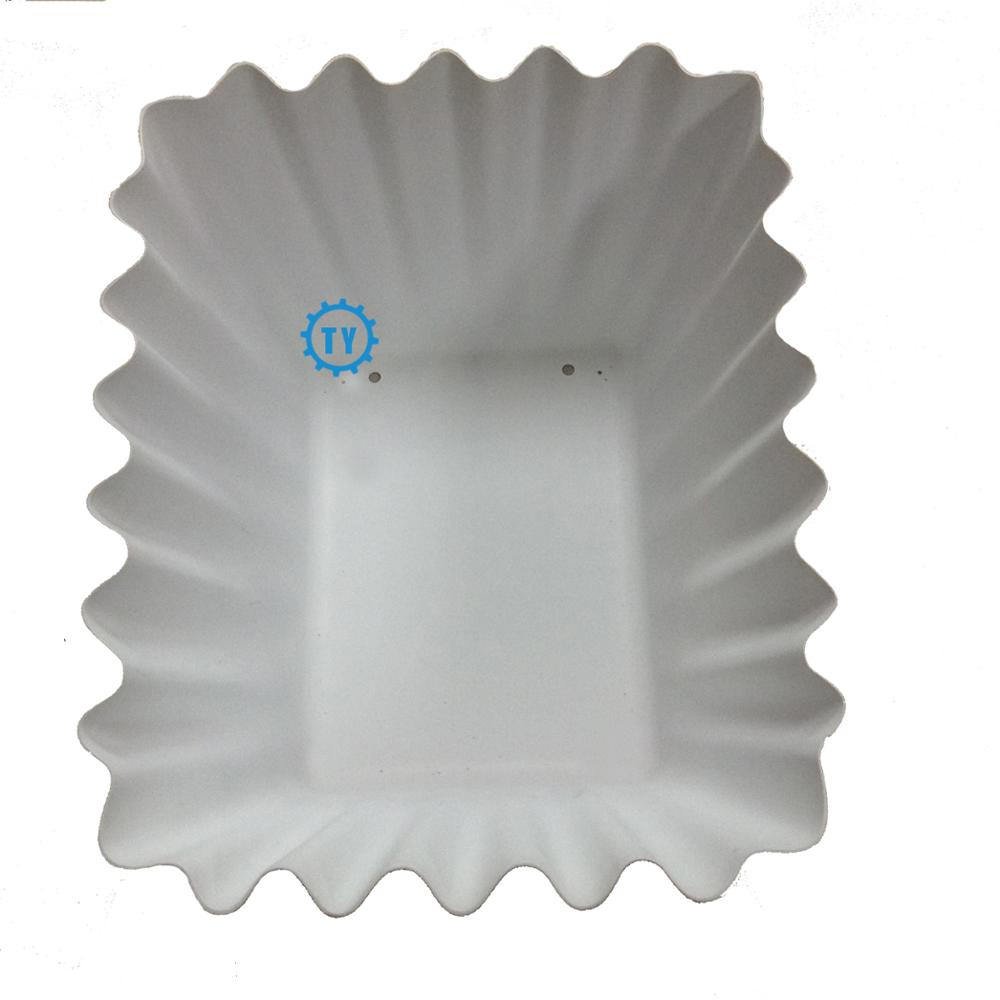 customized vacuum formed plastic with wavy edge  plant tray