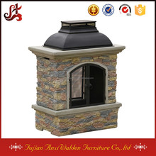 natural stone chiminea outdoor fireplace