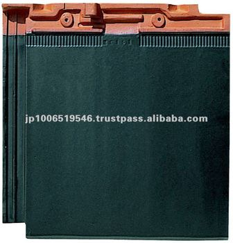 Extremely durable and very long-lasting japanese roof tile ( CERAM FF Straight Black color )