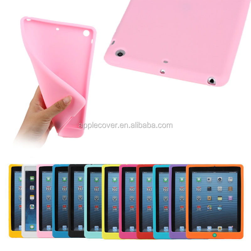 Cute soft pink silicone case for iPad mini 1 2 3