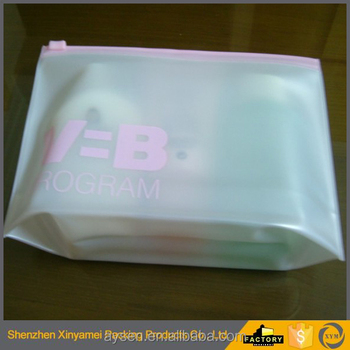 PVC Vinyl Travel Cosmetic Bag Nice Clear Vinyl Frosted PVC Gusset Side Cosmetic Bag With Slider Zipper