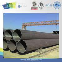 EPCO LSAW welding natural gas pipe and regulator