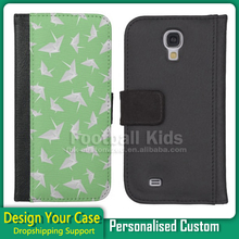 Chinese suppliers leather custom phone case sublimation 2D painting for Samsung S4 , Accept custom