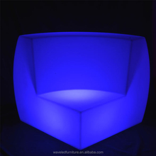 Illuminated lounge bar furniture multi color led sofa set for guangzhou furniture