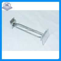 Metal Chrome Slat Wall Clothes Hanging Hook
