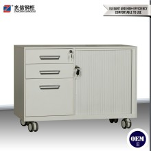Steel mobile shoe pedestal cabinet with wheel and mute cushion