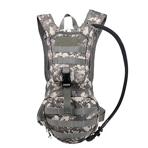 Tactical Hydration Pack Backpacks with 2.5L Bladder for Hiking, Biking, Running, Walking and Climbing