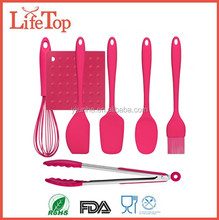 Premium 7Pieces Silicone Kitchen Utensils Set,whisk,tong,spatula,brush,pot holder