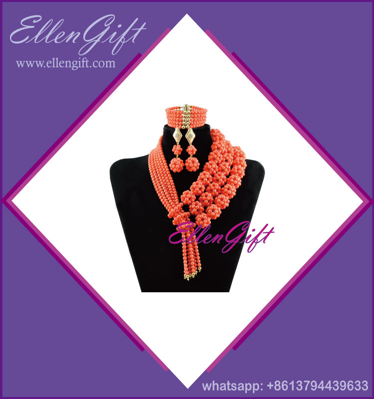 Fashion Design African Necklace Jewelry Set AJS3854