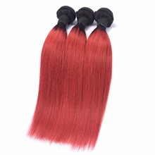 The Best Selling Brazilian virgin hair Ombre Hair Extensions 3 Bundles Unprocessed Two Tones Ombre Virgin Human Hair Weaves