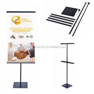 Adjustable Height Floor Metal Poster Stand Poster Display Sign Stand Banner Stand