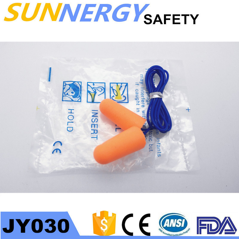 pu ear plugs with string