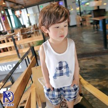 High-end design children summer t-shirt suit