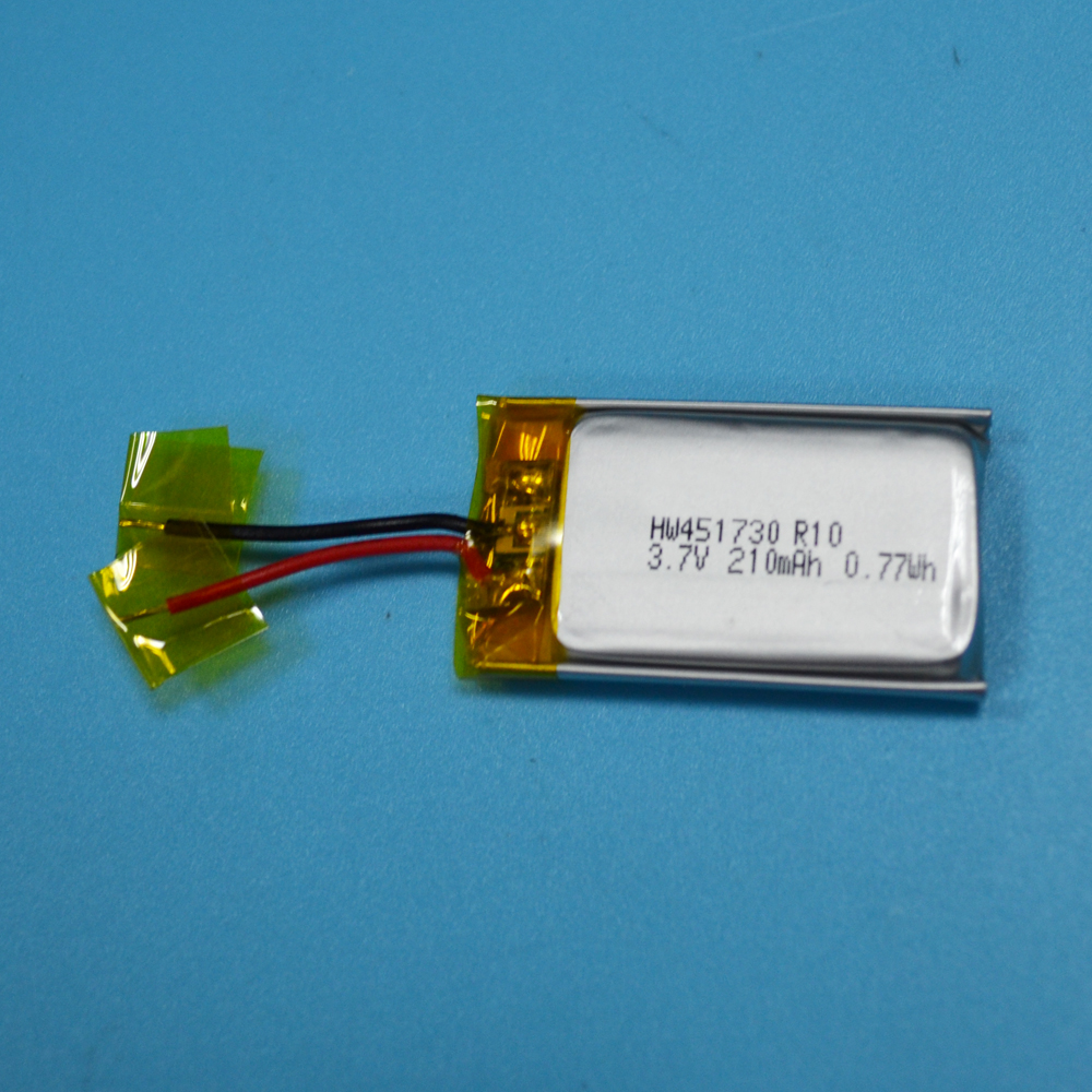 UN38.3 IEC Approved Rechargeable 451730 3.7V 210mAh Li Polymer Battery For Story Machines