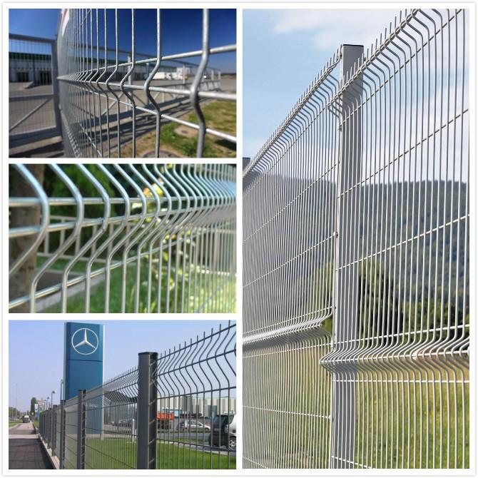2x2 Welded Galvanized Wire Mesh Fence Panels In 6 Gauge