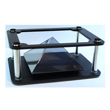 Hot selling DIY 3D mini hologram projector pyramid plastic box for smartphone